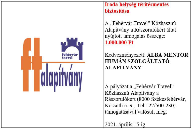 Fehérvár Travel támogatása